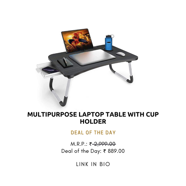 Multipurpose Laptop table with Cup Holder
