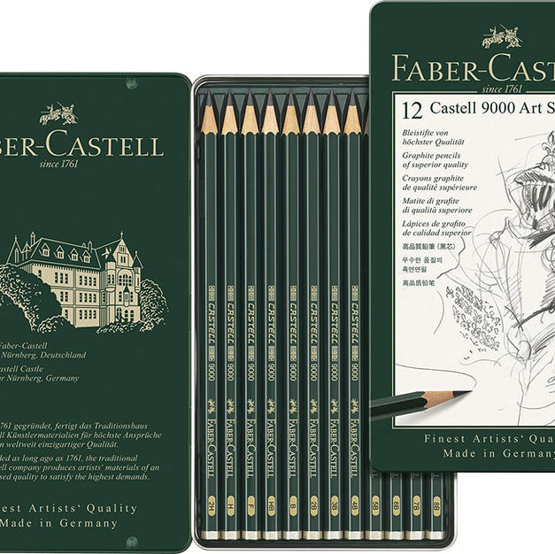 Faber-Castell Castell 9000 Pencil Set - Pack of 12