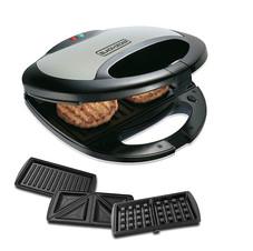 Black+Decker TS2090 750 Watt 3-in-1 Multiplate Sandwich, Grill and Waffle Maker (Grey) ₹ 3,399.00