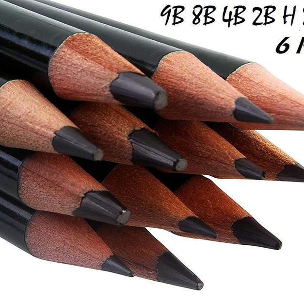 Bianyo Artist Quality Fine Art Drawing & Sketching Pencils (2H-12B), 12 Piece Set