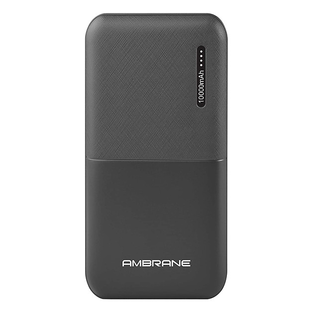 Ambrane 10000mAh Li-Polymer Powerbank with Compact Size & Fast Charging for Smartphones, Smart Watches, Neckbands & Other Devices (Capsule 10K, Black)  ₹ 449.00🔥