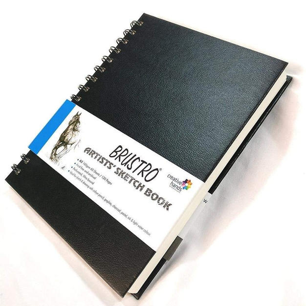 Brustro Artists Wiro Bound Sketch Book, A3 Size, 120 Pages, 160 GSM (Acid Free)