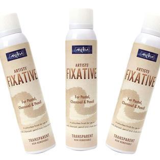 Fixative Spray Acrylic Fixative Spray Gloss Fixative Spray Paint 200ML (Pack of 3)