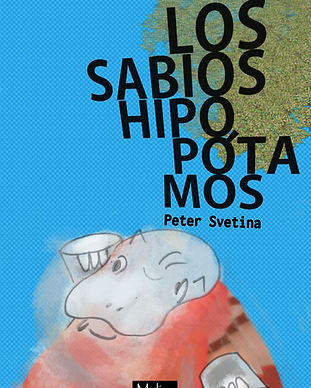 Book cover with an illustration of a hippo winking.
