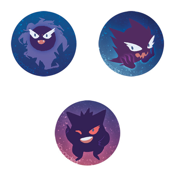 Pokemon Ghosts buttons