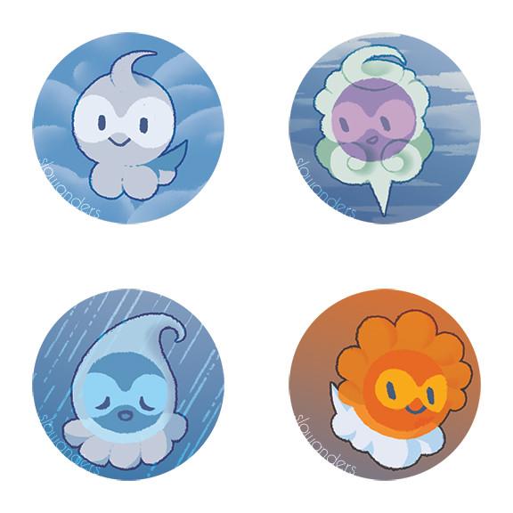 Pokemon Castforms buttons
