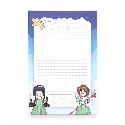 cardcaptor angels notepad