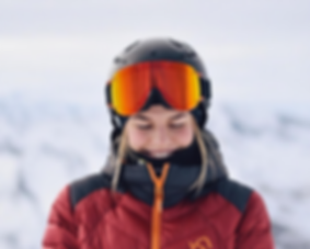 Sportalm luxury ski clothing and Yniq Ski goggles.