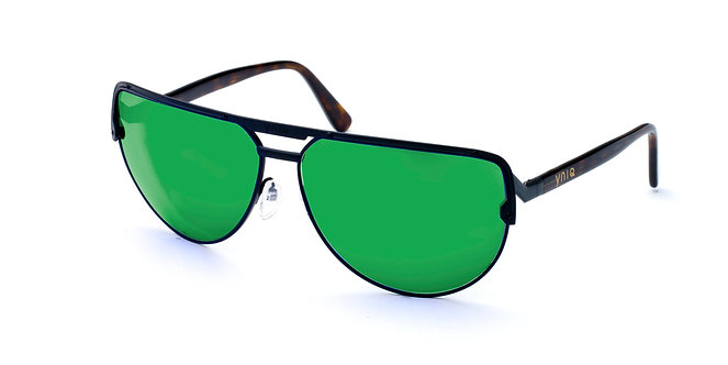 AVIATOR- BLACK, GREEN MIRROR (1019)