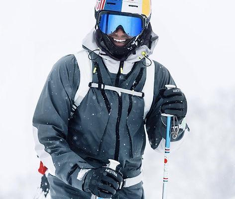 Sportalm luxury ski clothing and Yniq Ski goggles.
