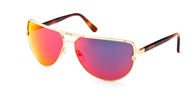 AVIATOR- GOLD, RED MIRROR (1007)