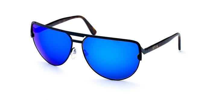 AVIATOR- BLACK, BLUE MIRROR (1010)