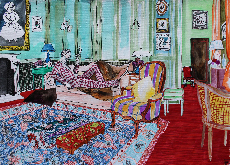 лорд Генри на диване копия