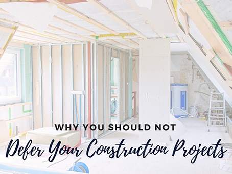 Why You Should Not Defer Your Hayward Construction Projects