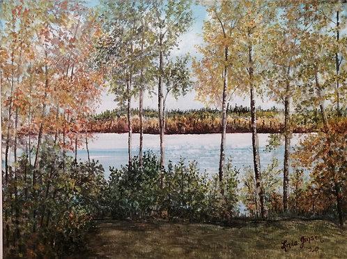 Struthers Lake in Autumn-Linda Jensen