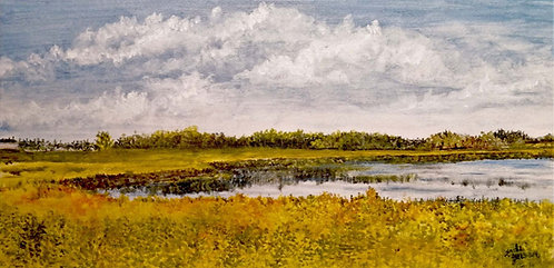 Summer Skies on the Rotary Trail-Linda Jensen