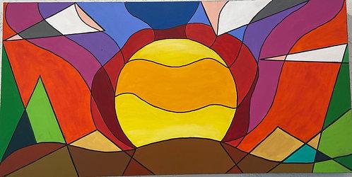 Cubist Sunset - Kim Morrall