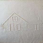 Settler's Homestead (cast paper)-Jack Jensen
