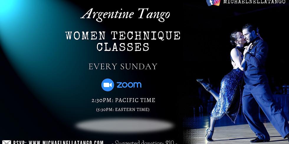 RECORDING video - FOLLOWERS Online Argentine tango class April 18