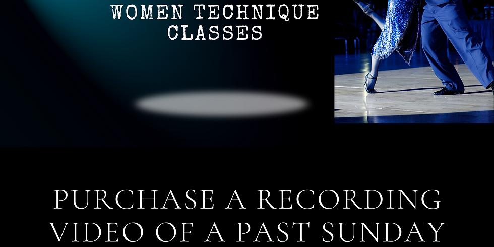 Purchase past RECORDING videos - FOLLOWERS Online Argentine tango class - Followers technique class