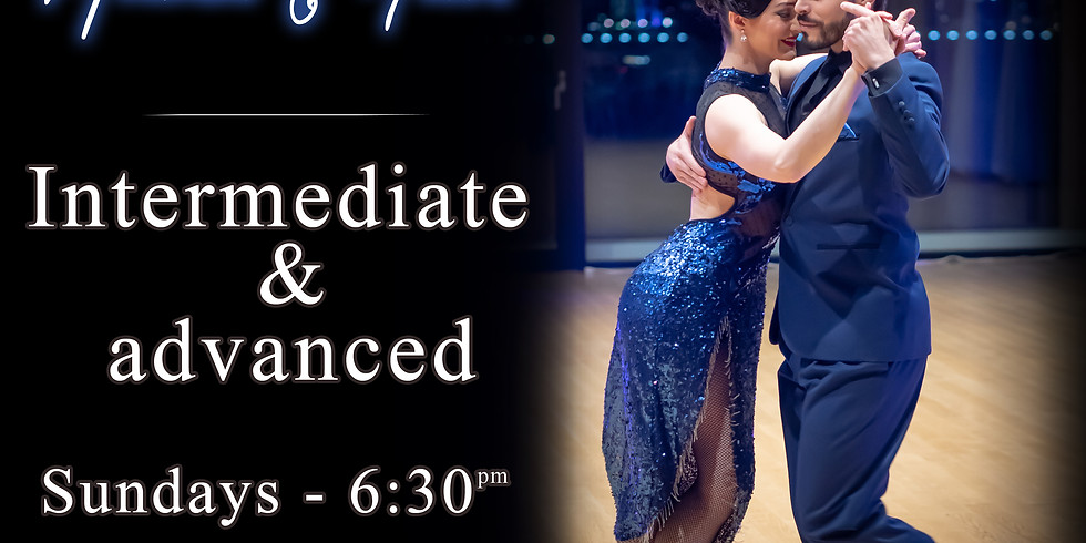Intermediate / Advanced - Online Argentine tango class (live on Zoom) Jul 5 - 6:30pm