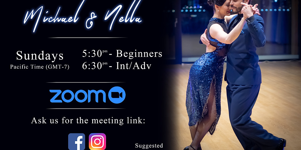 Online Argentine tango class (live on Zoom)