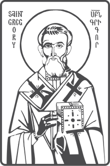 Saint Gregory The Illuminator vector