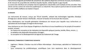 TECLIS recrute un ingénieur spécialisé en Traitement de l'image