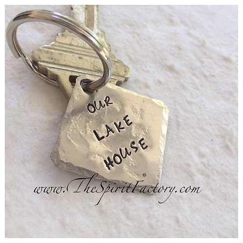 Silver Square Keychain