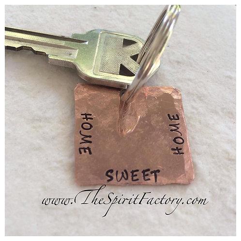 Copper Square Keychain