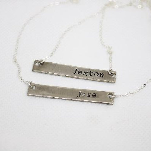 Silver Nameplate Necklace (1)