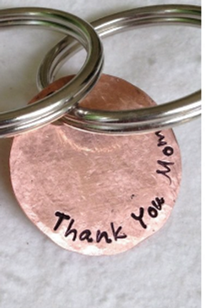 Copper Disc Keychain