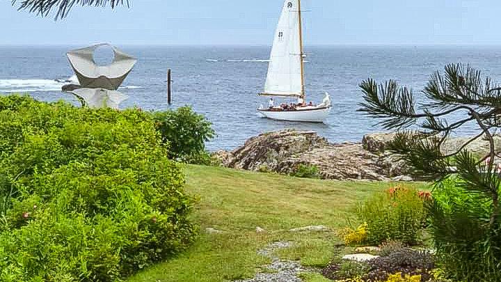 Sailing off the Coast of Maine