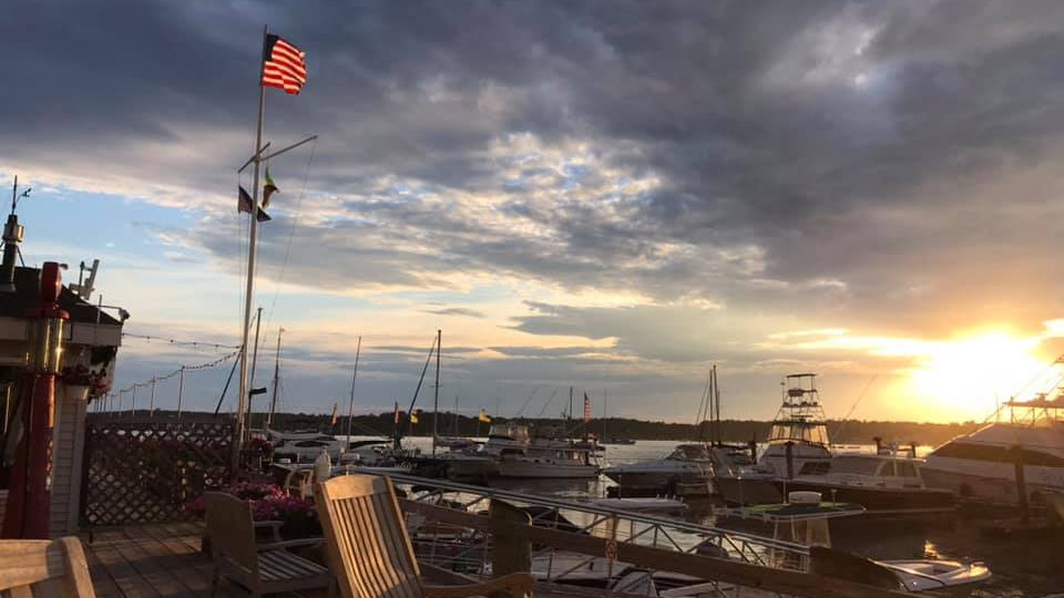 Sunset in Boothbay Harbor ME