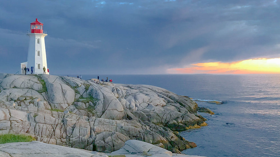Peggy's Cove Lighthouse at Sunset Nova Scotia