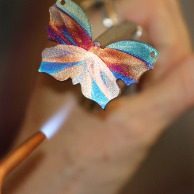 Flame Painting a Butterfly