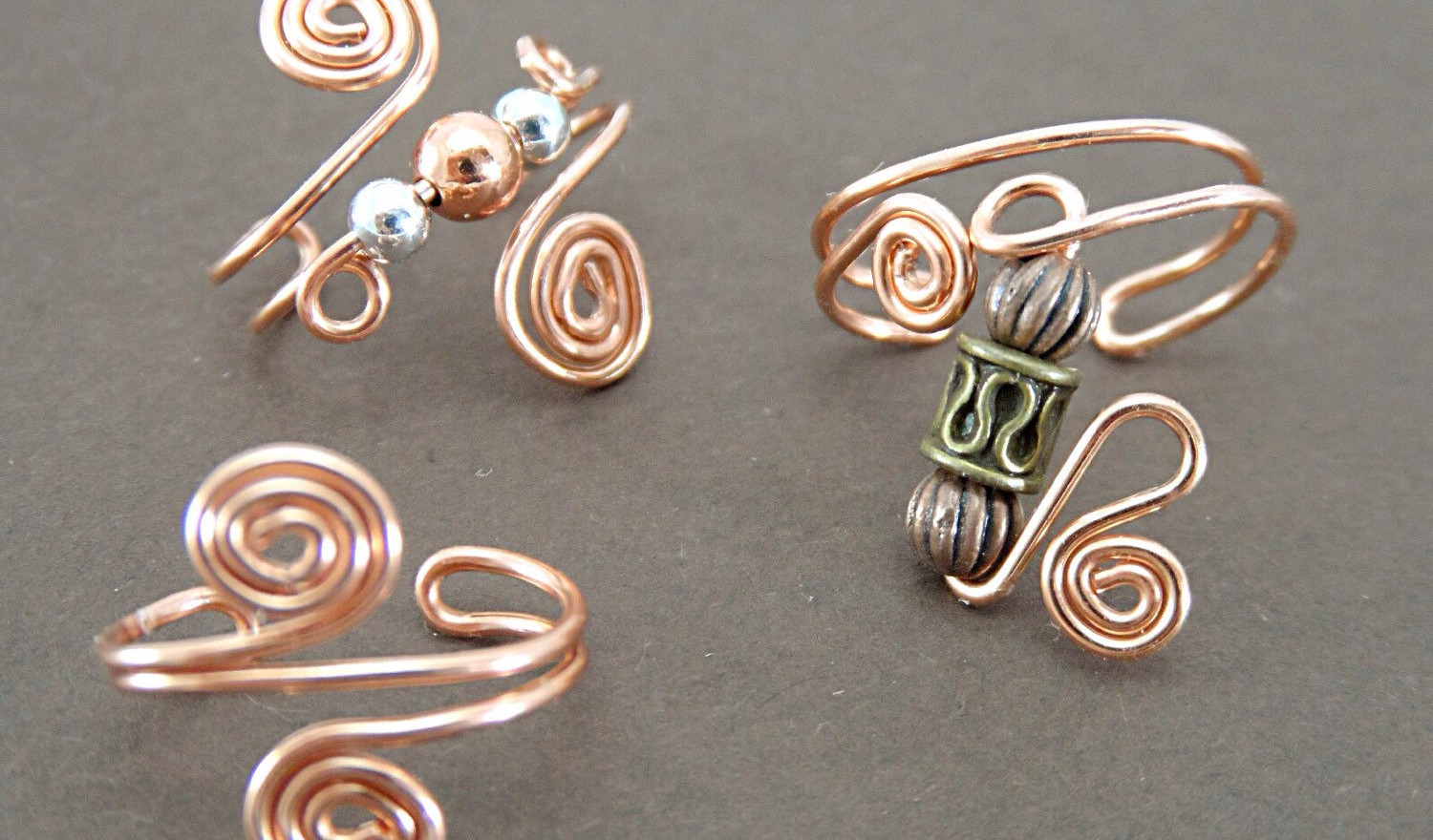 Copper ear cuffs