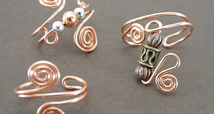 Copper ear cuffs