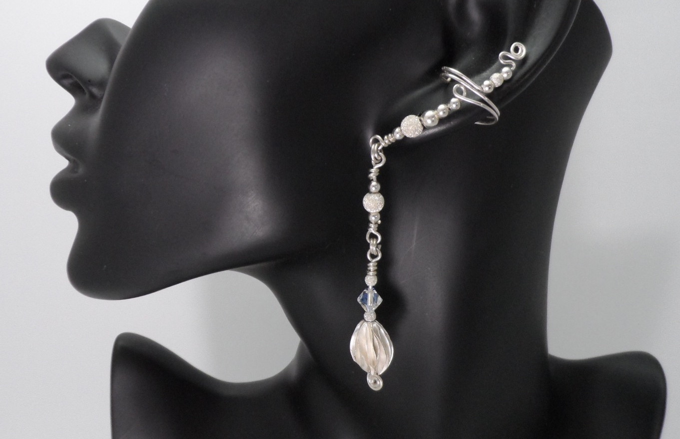 Sterling Silver glamorous ear cuffs