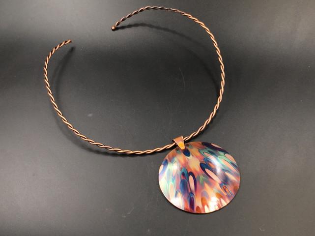 Copper Pendant on Neck Ring
