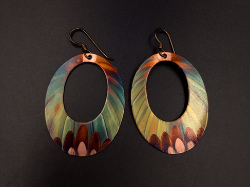 Earrings, 2.5 inches long