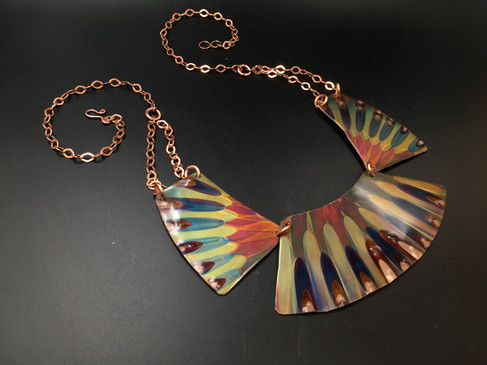 Flame Painted Collar Necklace
