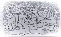 ribbon drawing for poster