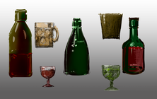 bottles cups