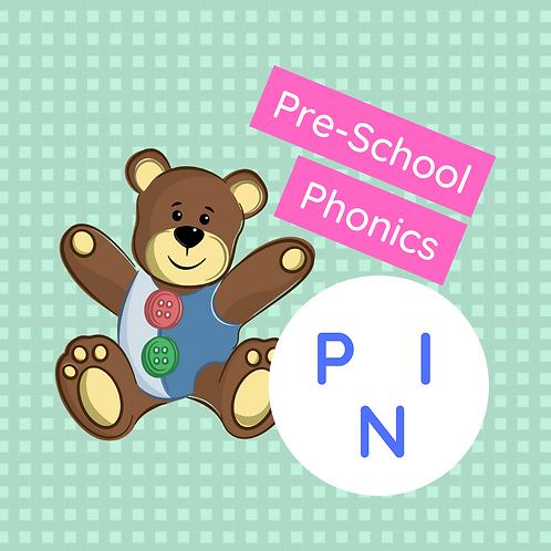 Set 2 (x 3 classes) Pre-school phonics - P, I & N