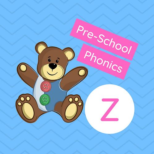 Sound Buttons Pre-school Phonics Class - Z