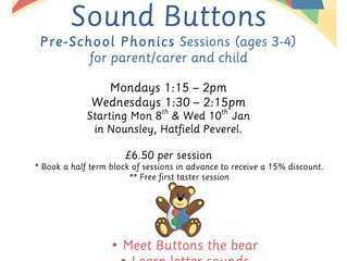Jan/Feb Sound Buttons Classes - Bookings now being taken