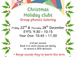 Christmas clubs - EYFS & Year 1 group phonics tutoring