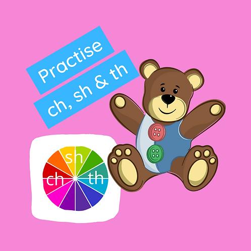 Phonics class - Practise ch, sh & th