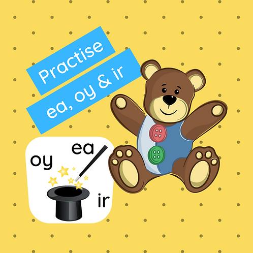 Phonics Class - Practise ea, oy & ir